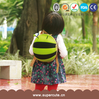 Factory price and Natural yellow color animal kids backpack