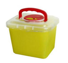 6.0 Liter Medical Sharps Disposale Container with handle and clear lids