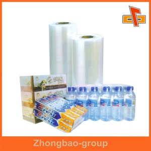 Heat resistant plastic PVC shrink film for drinking bottle packaging