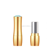 lipstick tube with rinestone, cosmetic packaging elegant lipstick tube with diamond cap