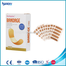 China Supplier wound care first aid elastic fabric plaster bandage adhesive band