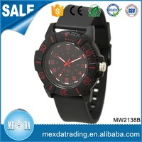 Custom high quality siliocne sport waterproof japan movt watch for man