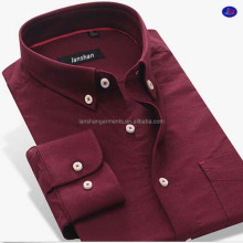 wholesale oxford shirt 100 cotton mens solid casual button down shirt