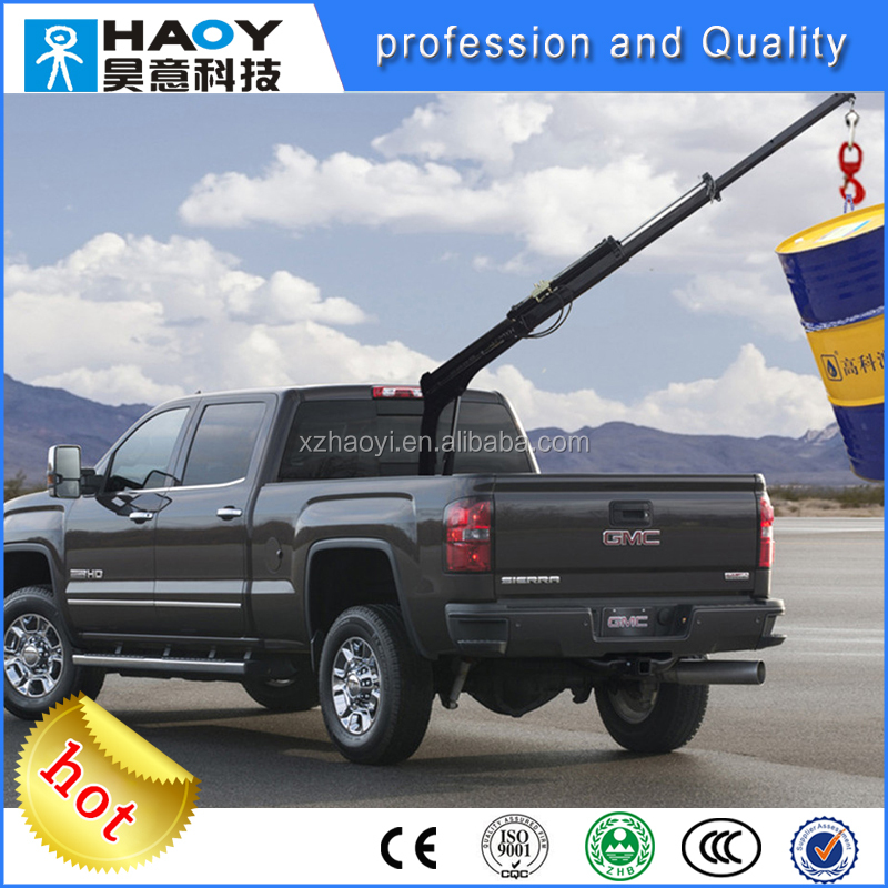 hydraulic small folding boom pickup truck crane with electric and hydra cylinder buy small. Black Bedroom Furniture Sets. Home Design Ideas