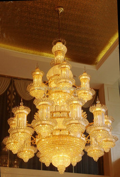 Extra large crystal chandeilier pendant light gold decoration