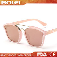 The Newest Design Wholesale Fashionable Women Square Custom Sunglasses 2015 High Quality