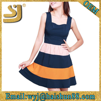 sexy prom rainbow colored prom latest casual dress