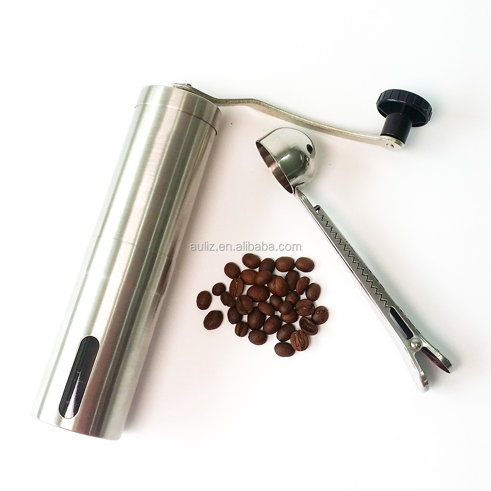 stainless steel manual coffee bean grinder