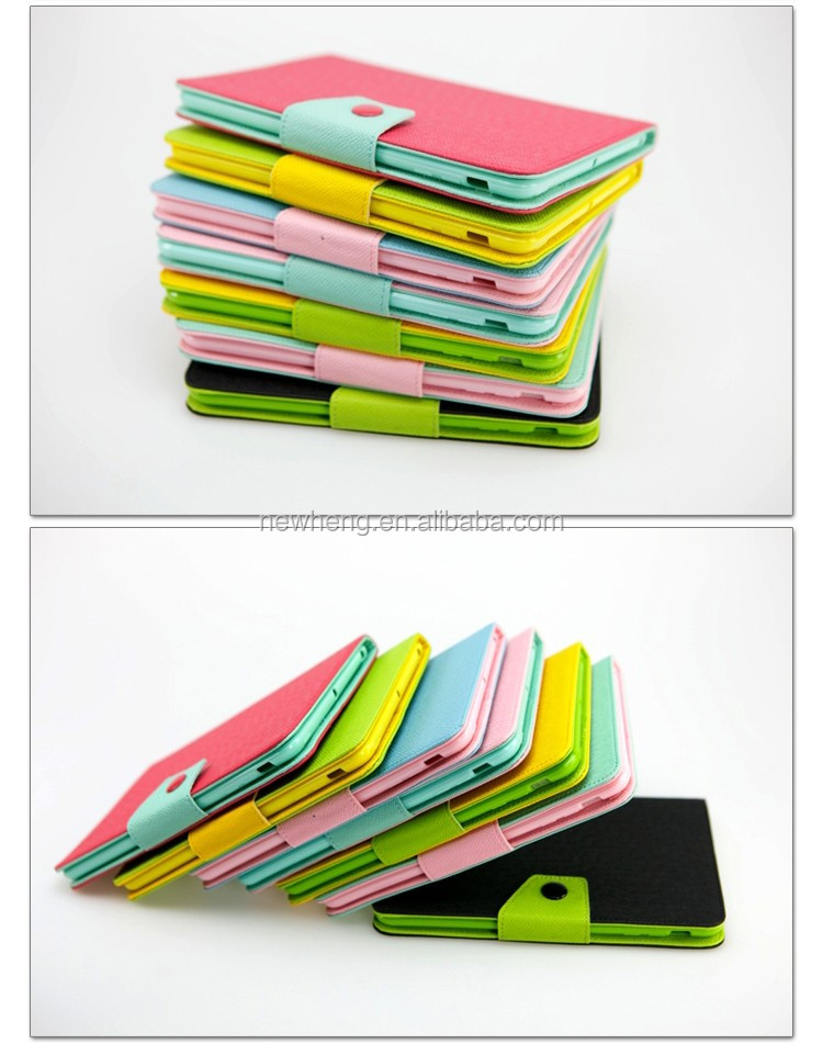 Colorful Stand up book style leather case for ipad mini 1/2/3