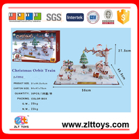 Paper scale model 80 PCS 3D Christmas orbit train toys ornaments puzzle,Christmas toys