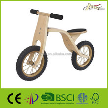 Unpolished Wooden Balance Kinder Laufrad Bikes with Steel Rim and Hub