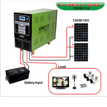 Portable Movable Home Solar Panel System 150W 300W 500W 1KW DC AC 12V 220V Inverter 800W 12V 100AH Solar Power Generating System