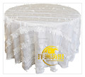 China fancy wedding decoration taffeta petal table cloth for wedding