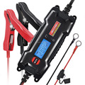 MULTI-STAGE LCD Display 6V/12V 0.8A/3.8A Smart Fully Automatic Battery Float charger / Maintainer, SAE Quick connect