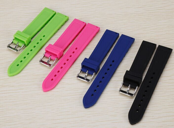 supply new dive watch strap flat 18mm rubber mixed colors watch band