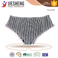 Young Girls Ladies Sexy Printed Panies with Crossed Ribbon JS984 Accept OEM