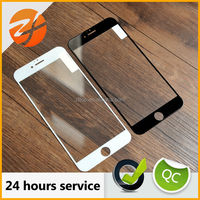 New products 3d white and black color full cover Tempered glass screen protector for iphone6 mobile phone