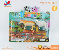 Life like animal cage toys plastic farm animal toy
