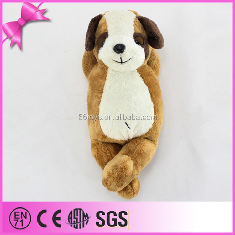 china kid toys fake fur sleeping dog,soft sleeping breathing toy dog,lifelike plush sleeping dog toy