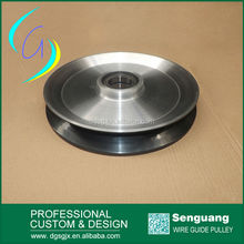 large Diameter Copper Wire Guide Pulley ,Electric Wire Cable Pulley, Ceramic Coated Aluminum Pulley