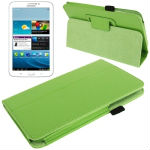 Lichi Texture Flip Leather Case with Holder & Sleep / Wake-up Function for Samsung Tab 3 / P3200