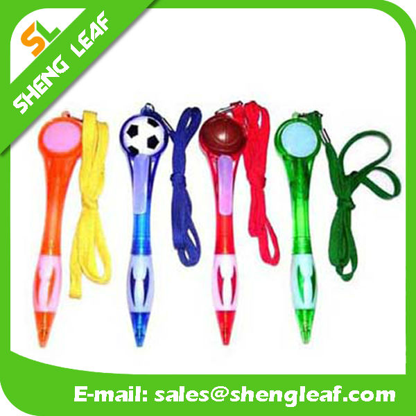 Football and basketball head 2016 lanyard pens