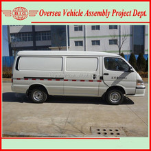 diesel fuel type engine cargo box van with 2-5 seats including driver