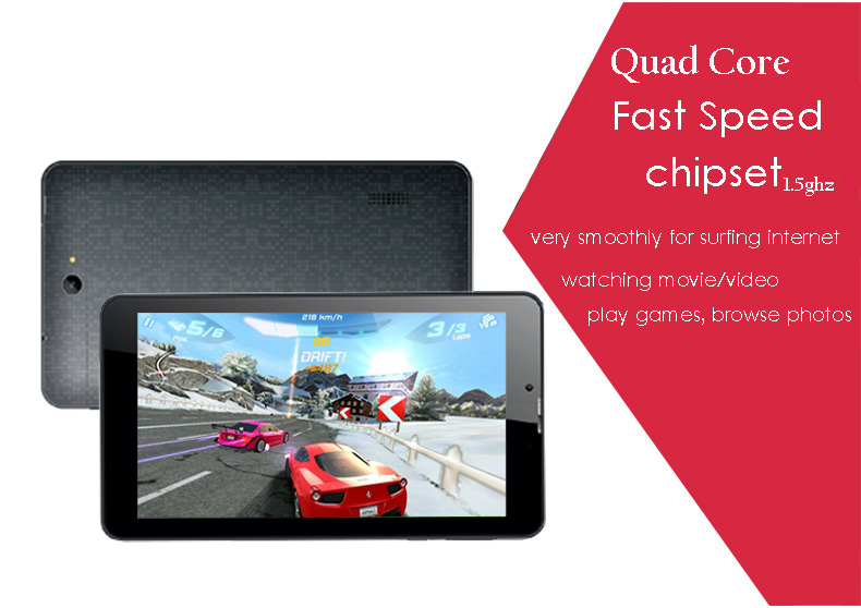 7inch quad core MTK8321 android 5.1 tablet pc with 3g gps function