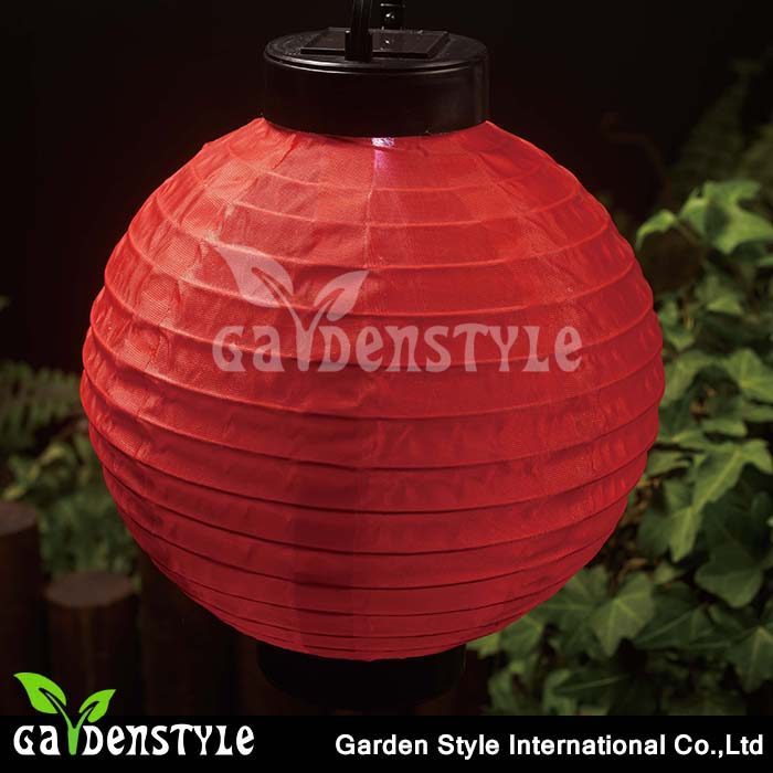 outdoor decoration red Chinese style solar power led hanging <strong>light</strong>