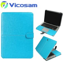 2017 new style wholesale cheap leather book laptop case for macbook