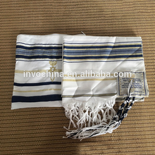 China wholesale 100%polyester prayer scarf tallit and size of prayer shawl