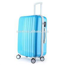 Best selling special design personalized fashionable zipper suitcase abs trolley travel case