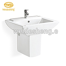 Hot selling ceramic hand cabinet wc hanging sink fancy wash basin