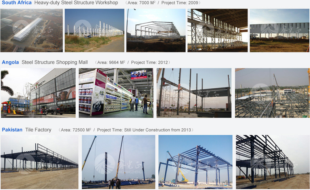 cheap cost oversea used nice prefab steel warehouse type building price in chinese steel structure Group with 5 factory