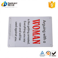 New Arrival OEM design personalized tin sign from manufacturer