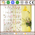 100% polyester butterfly orchid embroidered sheer curtain