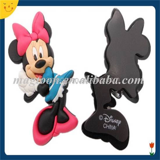 3D soft pvc cute magnet mouse