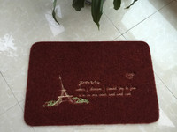 Polyester Fiber Entrance Indoor/Outdoor Floor Mat, Burgundy mat, BURGUNDER TPR Backing,