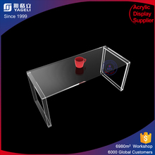 clear acrylic side table u shaped acrylic office desk customized acrylic furniture printed logo