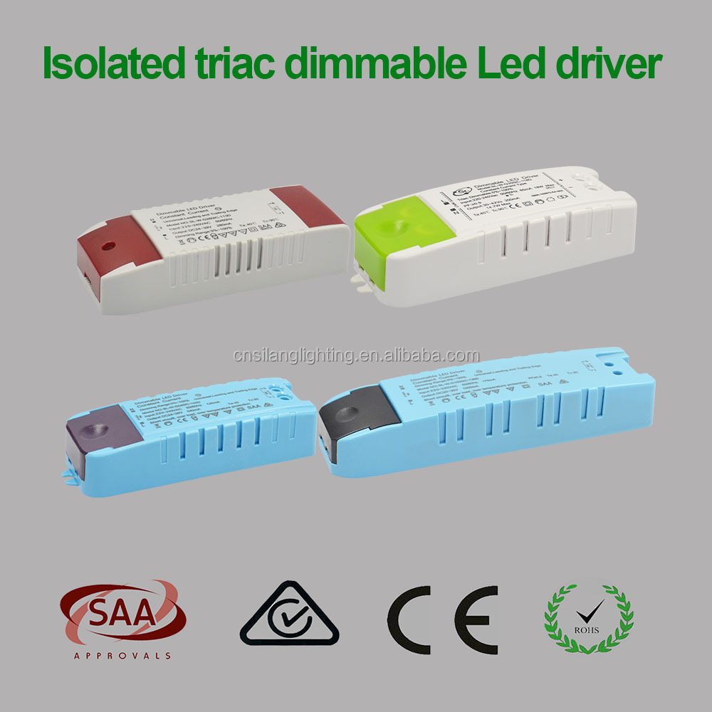 CE ROHS SAA Approved 13W/18W/24W/36W Constant Current LED Drivers for 60mA 84mA 115mA 165mA Triac Dimmable