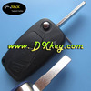 High quality free inspection car key 3 button remote key shell (black) backside without battery door for fiat key cover