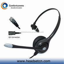 High quality noise cancelling call center telephone earphone headphone headset with rj plug HSM-600RPQDRJ