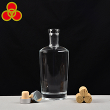 Wholesale 700ml round empty glass liquor bottle rum bottle