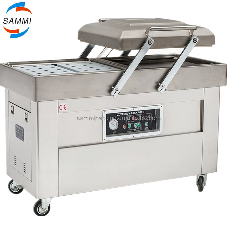 price for cooked food vacuum packaging machine with Double chamber