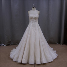 Famous brandbowknot sash black long train lace wedding dresses
