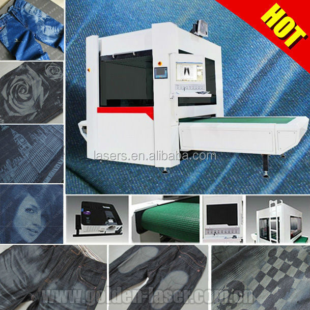jeans denim laser printing machine with galvo engraving system