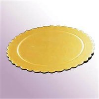 "Scalloped cake boards in 13""--Corrugated Cake Circles"