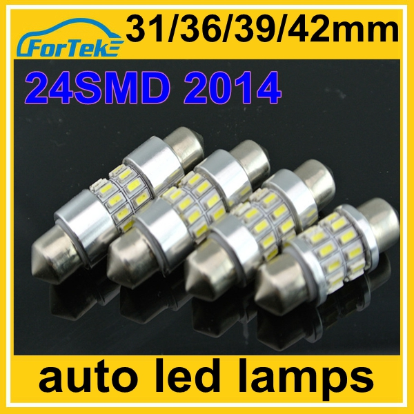 360 angle beam car led interior dome reading light 24SMD 3014 festoon lamp 31mm/36mm/39mm/42mm