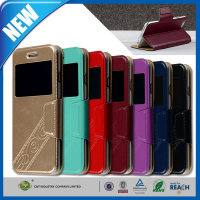 C&T Hot Stamp Series PU Leather Folio Stand Flip Cover Case with Matte Finish for iPhone 6 plu 5.5""