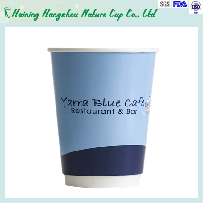 disposable double wall paper coffee cup 12oz